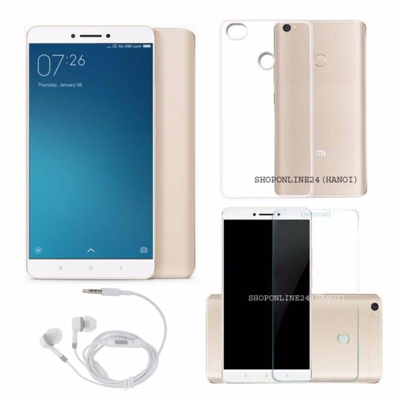 Xiaomi mimax 2 2017- 64GB Ram 4GB (Vàng) + Tai Nghe + Ốp Lưng + Kính Cường Lực - Hàng Nhập Khẩu