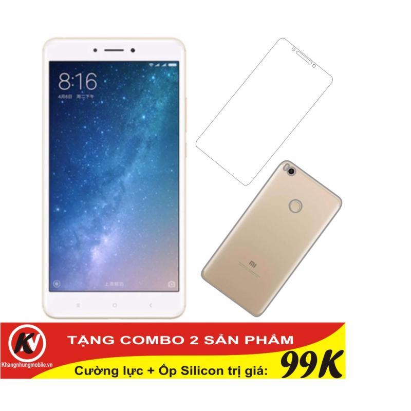 Xiaomi mimax 2 64GB Ram 4GB Khang Nhung (Vàng) + Cường lực + Ốp silicon trong suốt - Hàng nhập khẩu