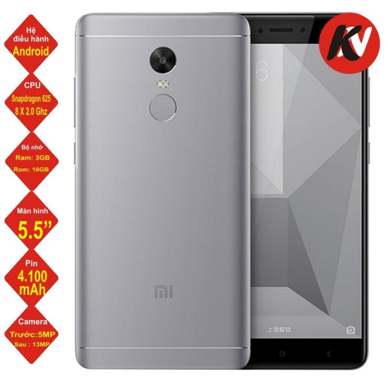 Xiaomi Note 4X 32GB Ram 3GB 2017 (Xám) - Hàng nhập khẩu