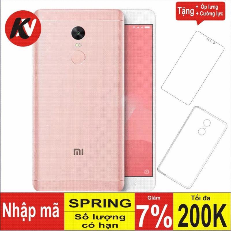 Xiaomi Note 4X 32GB Ram 3GB Kim Nhung (Hồng) + Cường lực + Ốp Silicon - Hàng nhập khẩu