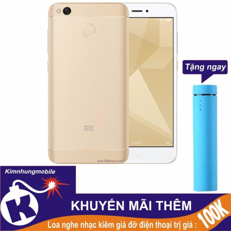 Xiaomi Redmi 4X 16GB (Vàng) Hàng nhập khẩu + Loa nghe nhạc kiêm giá đỡ điện thoại