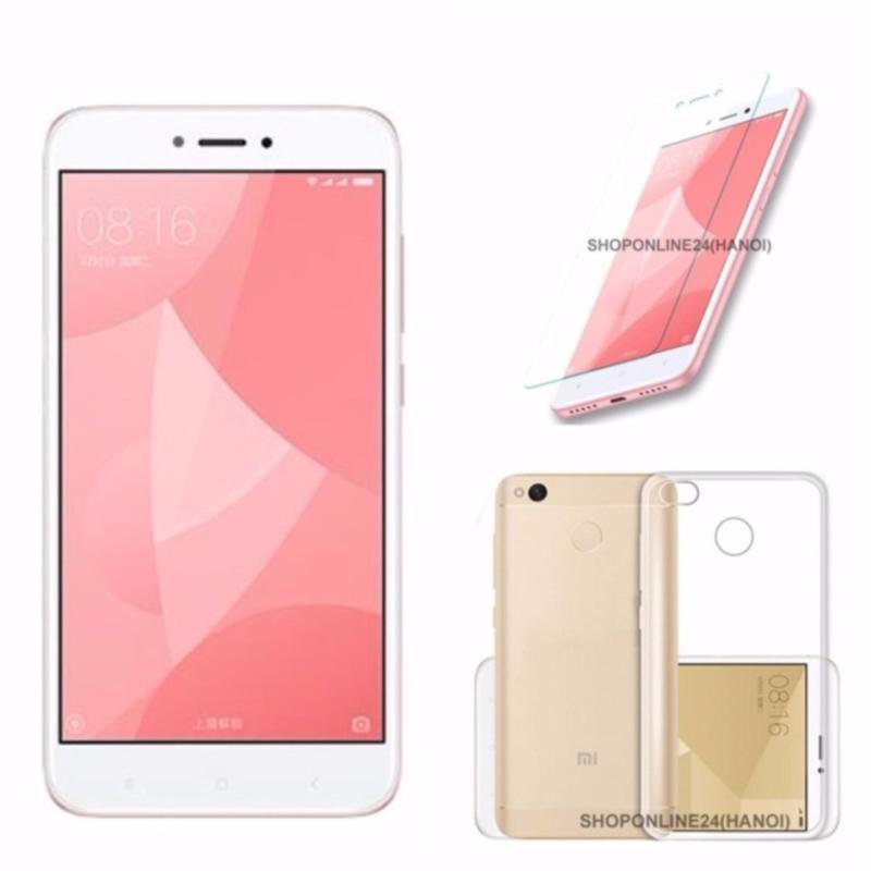 Xiaomi Redmi 4X 32GB Ram 3G (Hồng) + Ốp Lưng + Kính Cường Lực - Hàng nhập khẩu