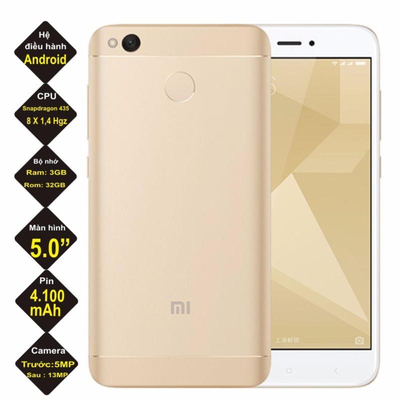 Xiaomi redmi 4X  32GB Ram 3GB  ( Gold ) - Hàng nhập khẩu
