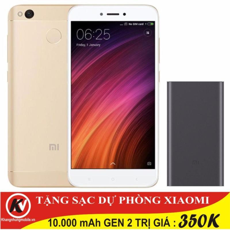 Xiaomi Redmi 4X 32GB Ram 3GB (Vàng) - Hãng phân phối chính thức + Sạc dự phòng Xiaomi Gen 2 10.000 mAh