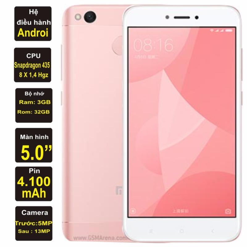 Xiaomi Redmi 4X Ram 3GB Rom 32GB Kim Nhung (Hồng) - Hàng nhập khẩu