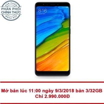 Xiaomi Redmi 5 32GB Ram 3GB (Đen) - Hãng phân phối chính thức