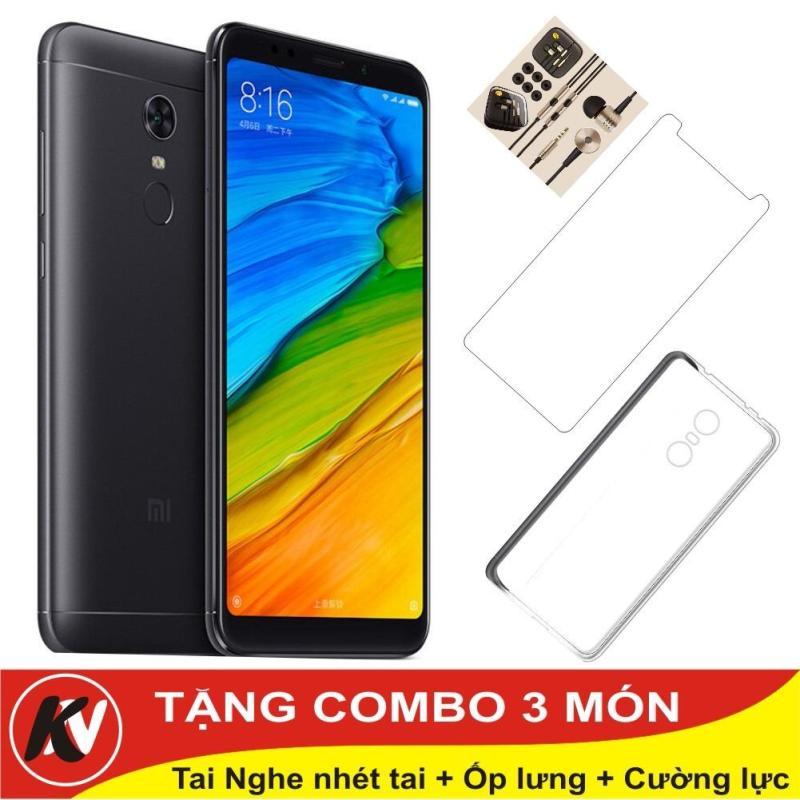 Xiaomi Redmi 5 Plus -32GB Ram 3GB ( Đen ) - Hàng nhập khẩu + Ốp lưng + Cường lực + Tai nghe nhét tai