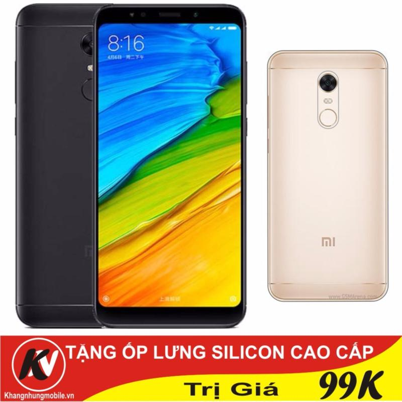 Xiaomi Redmi 5 Plus 32GB Ram 3GB Khang Nhung (Đen) - Hàng nhập khẩu + Ốp lưng silicon
