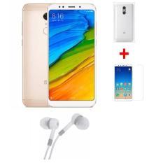Xiaomi Redmi 5 Plus 64G Ram 4G (Vàng) + Ốp lưng + Cường lực + Tai nghe – Hàng nhập khẩu