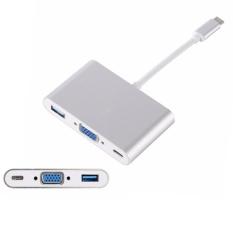 YBC 3-Trong-1 USB 3.1 Loại C Sang Cáp Vga Loại C USB 3.0 Bộ Sạc Adapter-Quốc tế