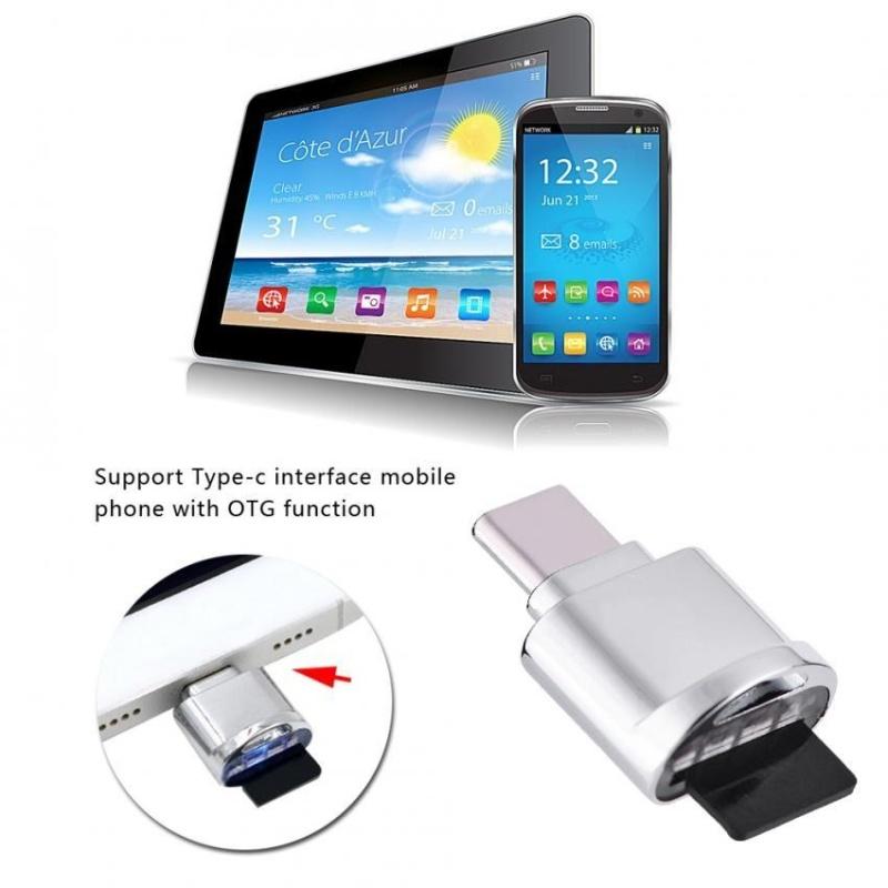 Bảng giá YOSOO High Speed USB-C USB3.1 Type-C to USB 2.0 Micro SD / TF Card Reader with OTG Function - intl Phong Vũ
