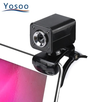 YOSOO USB Web Camera Digital HD 12.0M Pixels Built-in MicrophoneBlack - intl