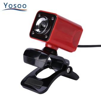 YOSOO USB Web Camera Digital HD 12.0M Pixels Built-in MicrophoneRed - intl