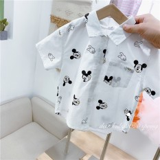Áo Sơ Mi Mickey Cộc Tay Cho Bé Trai Chất Vải Thoáng Mát Hút Ẩm Tốt V246 Quần Áo Trẻ Em NamKidShop