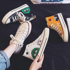 Giày thể thao nữ cao cổ hình đáng yêu – giày nữ sneaker giầy bata trắng đen vàng đi học thời trang ullzang hàn quốc giá rẻ dưới 100k đẹp hot 2020