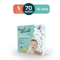 Tã Dán Rascal & Friends cho bé 4kg – 8kg – Size S 70 miếng