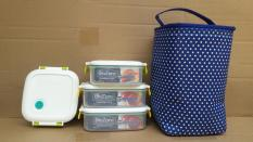 Bộ 3 hộp mang cơm tặng kèm túi giữ nhiệt