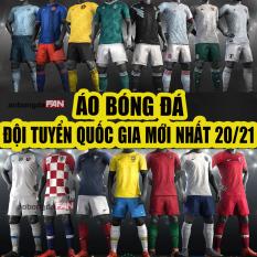 [HCM]Bộ Quần Áo Đá Bóng Đội Tuyển Quốc Gia Euro 2021 – Thun co dãn 4 chiều- Có in tên số