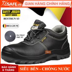 Giày bảo hộ lao động Jogger Bestrun S3 da bò thật, chống nước, giày bảo hộ chuẩn S3 Châu Âu