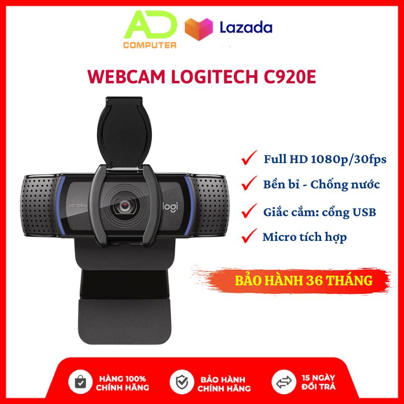 [Trả góp 0%] Webcam Logitech C920e Giải Pháp Hội Nghị Trực Tuyến Cho Doanh Nghiệp – BH Chính hãng 36 Tháng