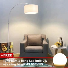 Đèn Cây Đứng Trang Trí Phòng Khách Phòng Ngủ Đọc Sách DC523 Ngân Tin (Tặng kèm một bóng Led Bulb 9W ánh sáng vàng)