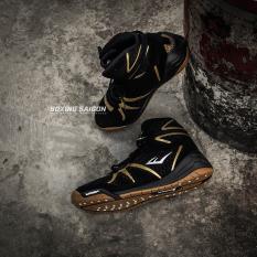 Giày boxing Everlast Michelin PIVT Low – Đen/Vàng