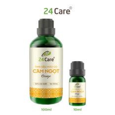 Tinh dầu thiên nhiên Cam Ngọt 100ml 24Care – xông phòng, dưỡng da, chăm sóc răng miệng, thúc đẩy tâm trạng tốt