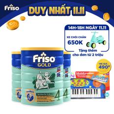 [Freeship toàn quốc] Bộ 3 lon sữa bột Friso Gold 4 1.5kg + Tặng Đàn organ màu xanh trị giá 490K
