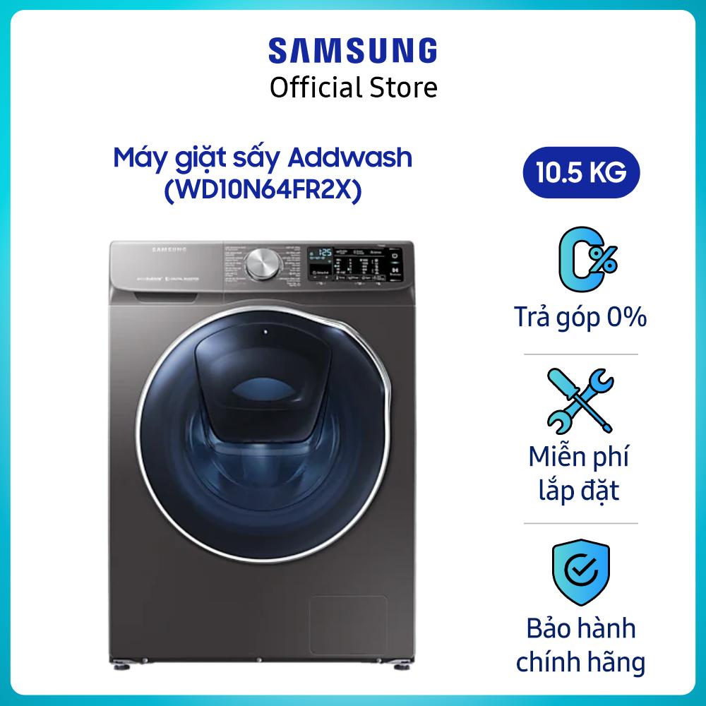 [Freeship toàn quốc tối đa 316k từ 22-31.7] Máy giặt sấy inverter add wash Samsung Addwash 10.5kg (WD10N64FR2X/SV) – – Liên Hệ Hotline Samsung 1800588889 để được hỗ trợ lắp đặt – Hàng chính hãng