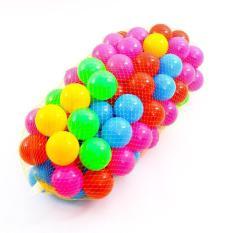Túi 100 quả bóng cho bé vui chơi – Banh nhựa dày dặn , làm hoàn toàn tự nhựa nguyên sinh , sản xuất tại Việt Nam – Dùng được cho cả nhà banh , bể bơi , khu vui chơi