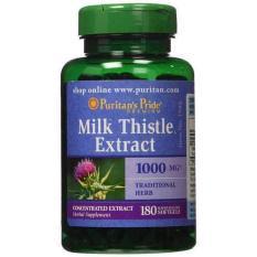 Viên uống bổ gan, làm mát gan, giải độc gan, phòng chống viêm gan, xơ gan, Vitamin Mỹ Puritan's Pride Milk Thistle Extract 1000mg 180 viên