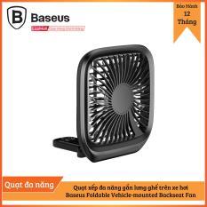 Quạt xếp đa năng gắn lưng ghế trên xe hơi Baseus Foldable Vehicle-mounted Backseat Fan dùng trên bàn làm việc và trên ô tô