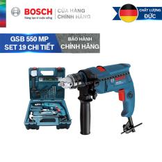 Bộ máy khoan động lực cầm tay Bosch GSB 550 MP SET 19 chi tiết
