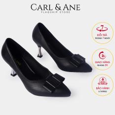 Carl & Ane – Giày cao gót thời trang nữ mũi nhọn đính khóa vuông kiểu dáng công sở cao 4cm CP008 (BA)