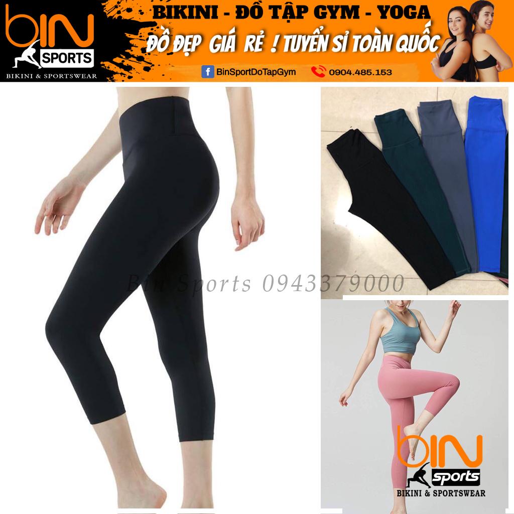 [Lấy mã giảm thêm 30%] Quần lửng cạp cao quần tập yoga gym aerobic thể thao Bin Sports Q013