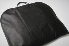 Combo 3 túi bọc áo vest quai xách giả da (60cmx100cm) màu đen vải không dệt