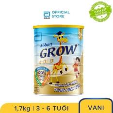 [GIẢM 40K ĐƠN 499K]Sữa Bột Abbott Grow Gold 3+ Hương Vani 1.7kg