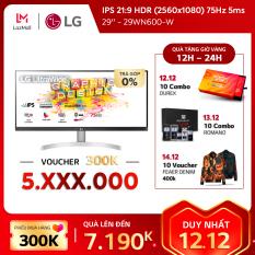 Màn hình máy tính LG IPS 21:9 HDR UltraWide™ (2560×1080) 75Hz 5ms 29 inches l 29WN600-W | HÀNG CHÍNH HÃNG