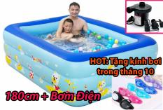 Bể Bơi cho bé 180cm 3 tầng bể bơi trẻ e , bể bơi cho bé và người lớn 180cm, Bể Bơi Trong Nhà cao cấp 1m8x1m4x60cm Cho Trẻ Tập Bơi Bể bơi phao 3 Tầng cỡ lớn