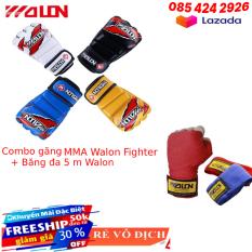Găng tay đấm bốc | găng mma | găng đấm mma | găng đấm bốc boxing mma walon fighter chuẩn thi đấu tặng băng đa boxing mma walon 3 m – Bảo hành 6 tháng
