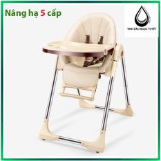 [Tải trọng 50kg] Ghế Ăn Dặm Cho Bé cao cấp bằng da, nâng hạ độ cao, nằm ngả cho trẻ từ 6 tháng – 6 tuổi Bestbaby