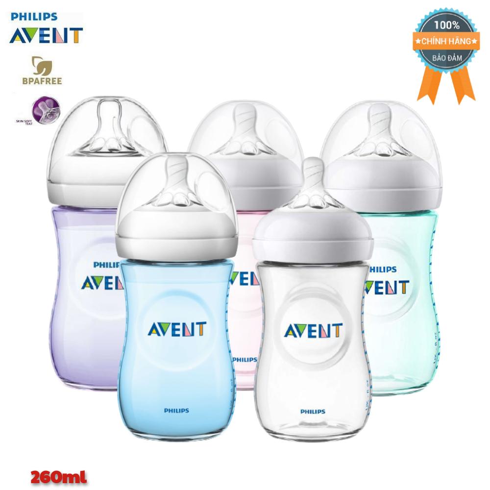 Bình sữa cho bé Philips Avent Natural chính hãng 125ml / 260ml – nhựa PP BPA Free cổ rộng mô phỏng tự nhiên. ( Bình tách sét )