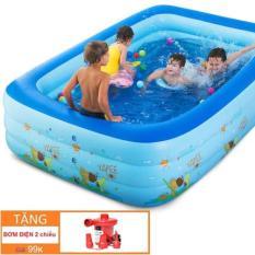 be boi cho be khuyen mai-Bể bơi phao trong nhà – gia đình ( tặng kèm bơm hơi), Hồ bơi phao cho bé cho trẻ em tập bơi, loại dày cao cấp cỡ lớn 130cm X 85cm X 55cm Tập bơi – Tập Bơi. Giá hấp dẫn khi mua online