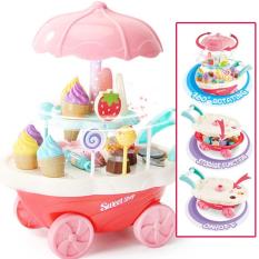 Đồ chơi xe kem 2 tầng phát nhạc cho bé, đầy đủ chi tiết và phụ kiện, đồ chơi nhập vai giúp bé phát triển kỹ năng