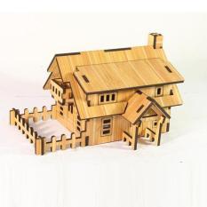 Đồ chơi lắp ráp gỗ 3D Mô hình Nhà gỗ Ranch House R-9105