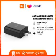 Cốc sạc nhanh Xiaomi ZMI HA612 l Quick Charge 3.0 18W l Nhựa ABS l Mạch sạc thông minh l Tốc độ sạc nhanh hơn gấp 8 lần l HÀNG CHÍNH HÃNG