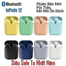 ( Được Chọn Màu ) Tai nghe Bluetooth inpods i12 Bản Cao Cấp Chip 5.0 Bluetooth, Tai Nghe Bluetooth Không Dây I12s hay hơn i7s, i9s, i11s , Tai Nghe Bluetooth Nhét Tai, Tai nghe bluetooth pin trâu