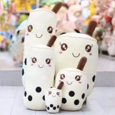 Kagonk Gấu bông gối ôm bình trà sữa 25cm nhồi bông chất liệu vải nhung Hàn Quốc