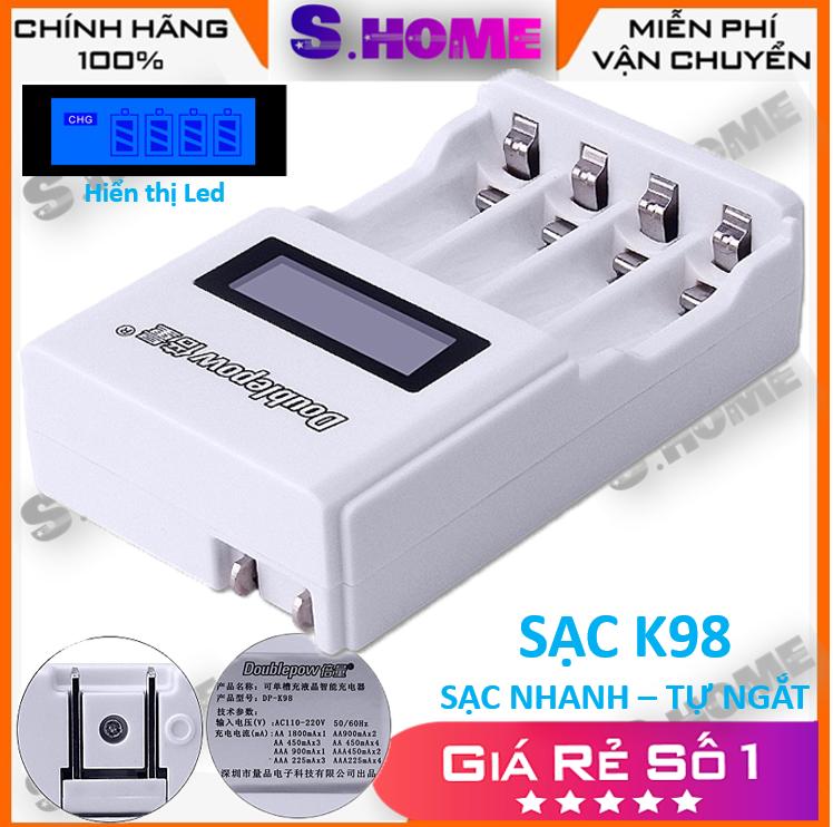 Sạc pin tiểu tự ngắt DP-K98 Sạc nhanh hiển thị led – Sạc Pin AA AAA Cho Thiết Bị Điện Tử – Đồ Chơi Trẻ Em – Micro Karaoke – Hàng Chính Hãng