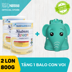 [FREESHIP + Tặng 1 balo voi con] Bộ 2 lon Sản phẩm dinh dưỡng y học Nutren Junior cho trẻ từ 1-10 tuổi 800g – Cam kết HSD còn ít nhất 10 tháng